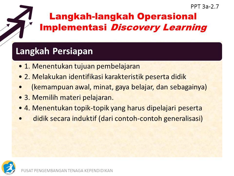 Langkah-langkah Operasional Implementasi Discovery Learning