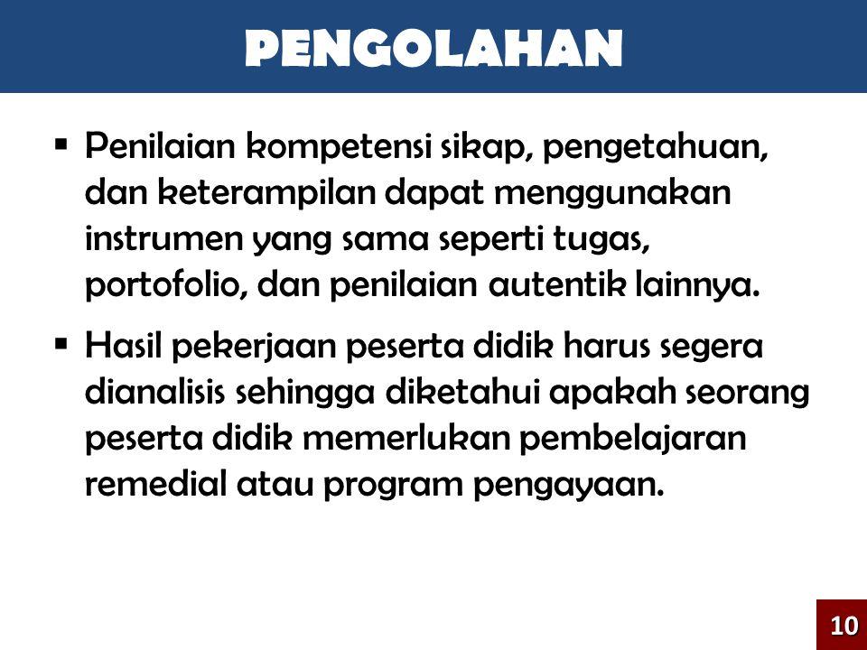 PENGOLAHAN