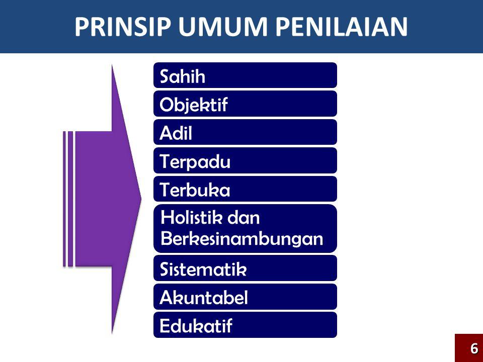 PRINSIP UMUM PENILAIAN