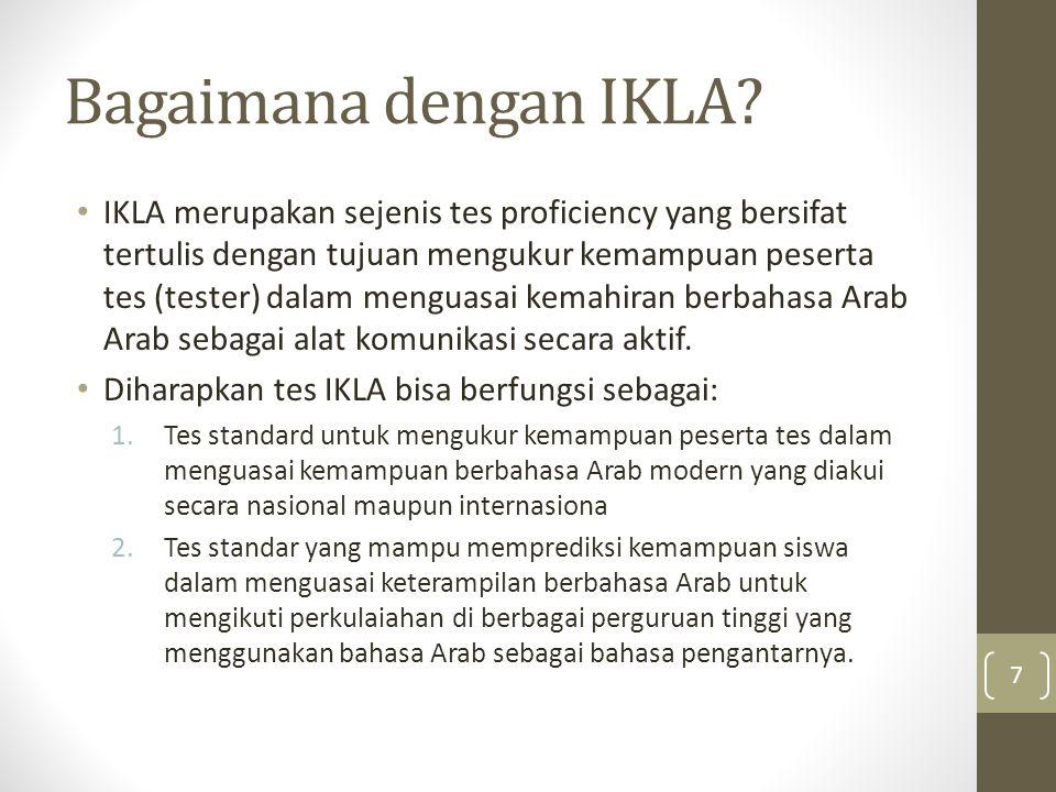 Bagaimana dengan IKLA