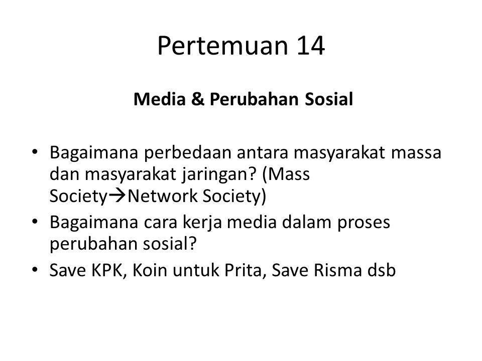 Media & Perubahan Sosial