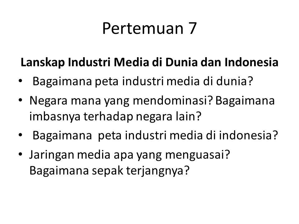 Lanskap Industri Media di Dunia dan Indonesia