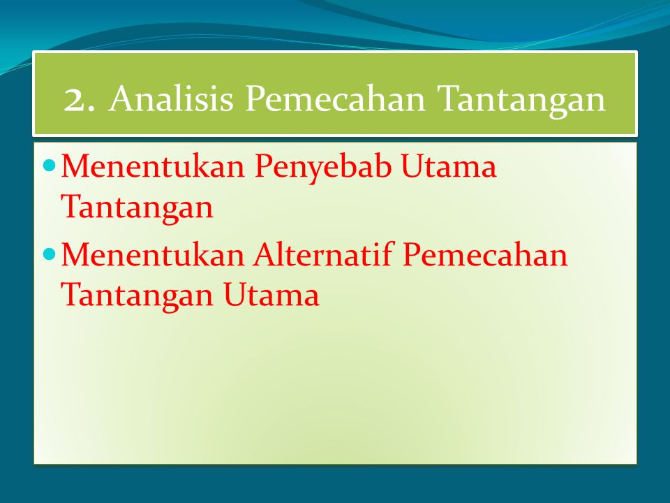 2. Analisis Pemecahan Tantangan