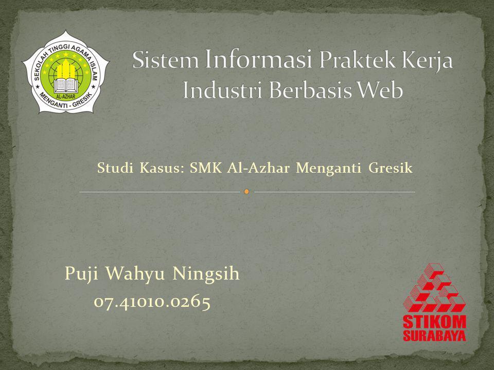 Sistem Informasi Praktek Kerja Industri Berbasis Web