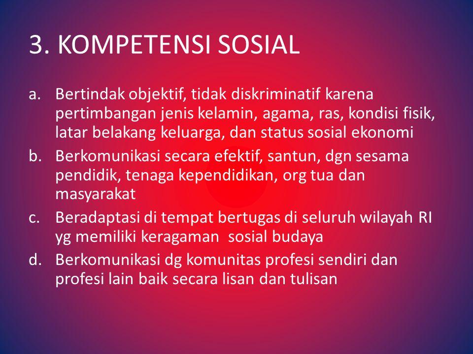 3. KOMPETENSI SOSIAL
