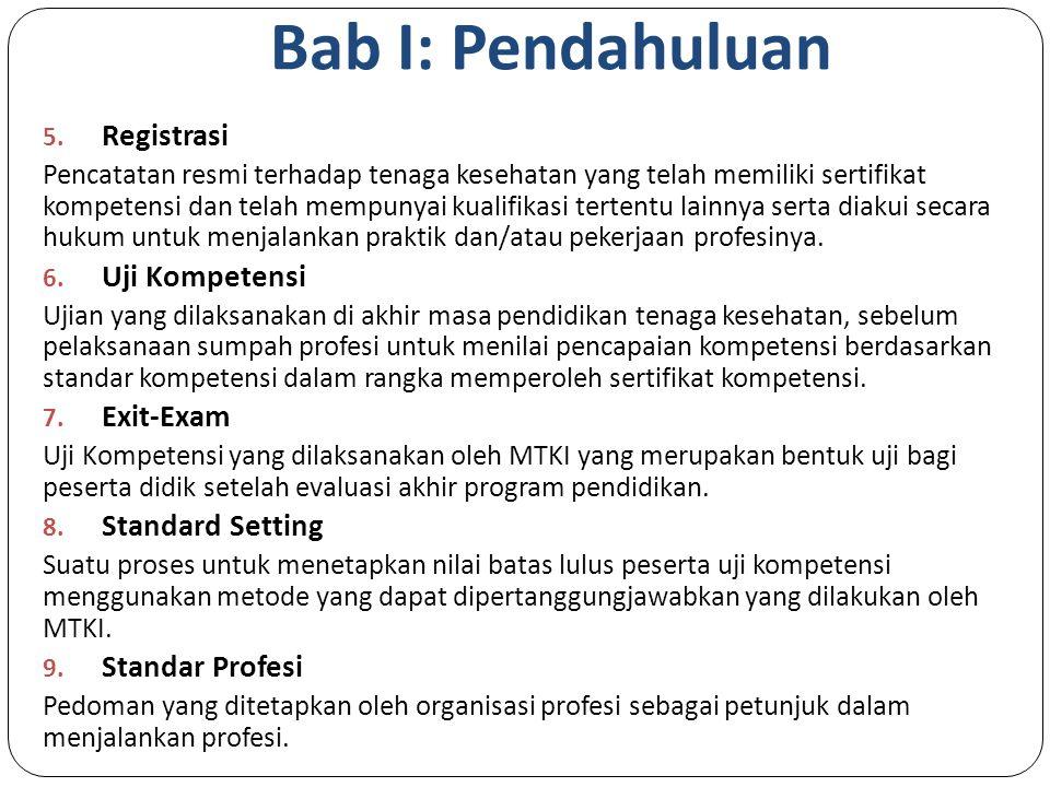 Bab I: Pendahuluan Registrasi Uji Kompetensi Exit-Exam