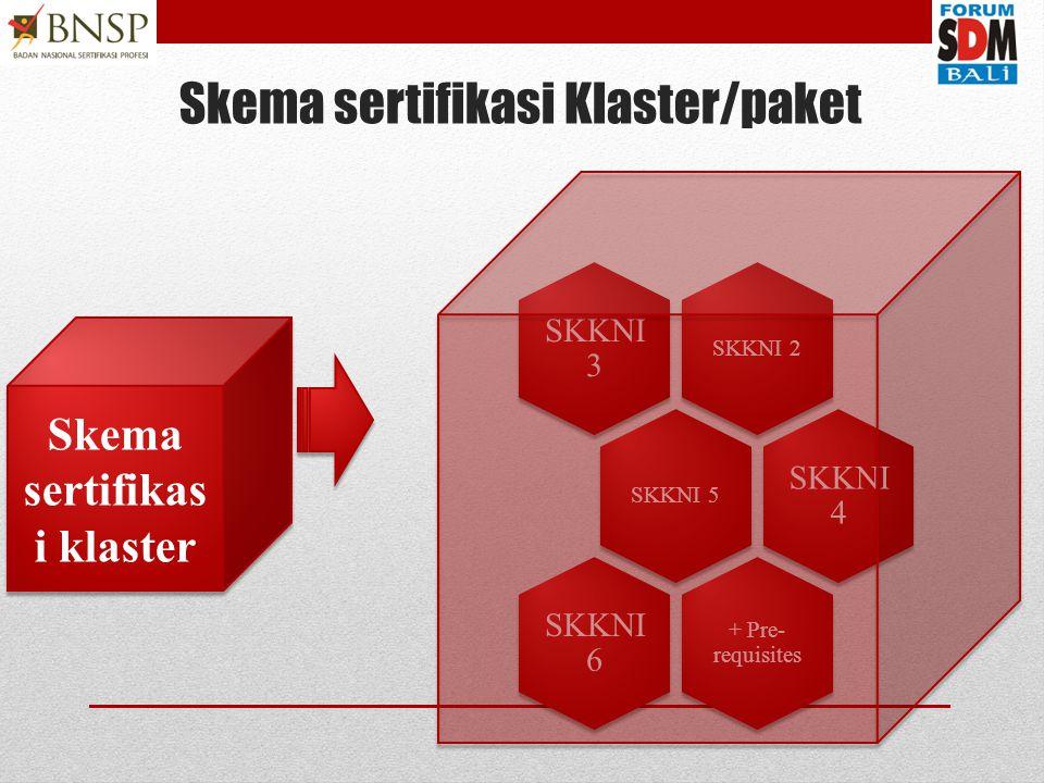 Skema sertifikasi Klaster/paket