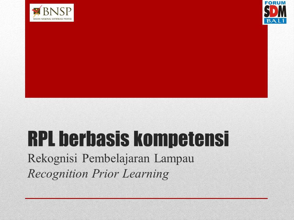 RPL berbasis kompetensi