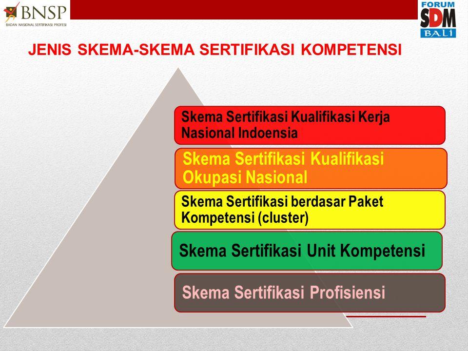 JENIS SKEMA-SKEMA SERTIFIKASI KOMPETENSI