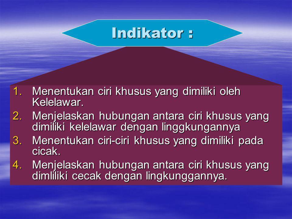 Indikator : Menentukan ciri khusus yang dimiliki oleh Kelelawar.