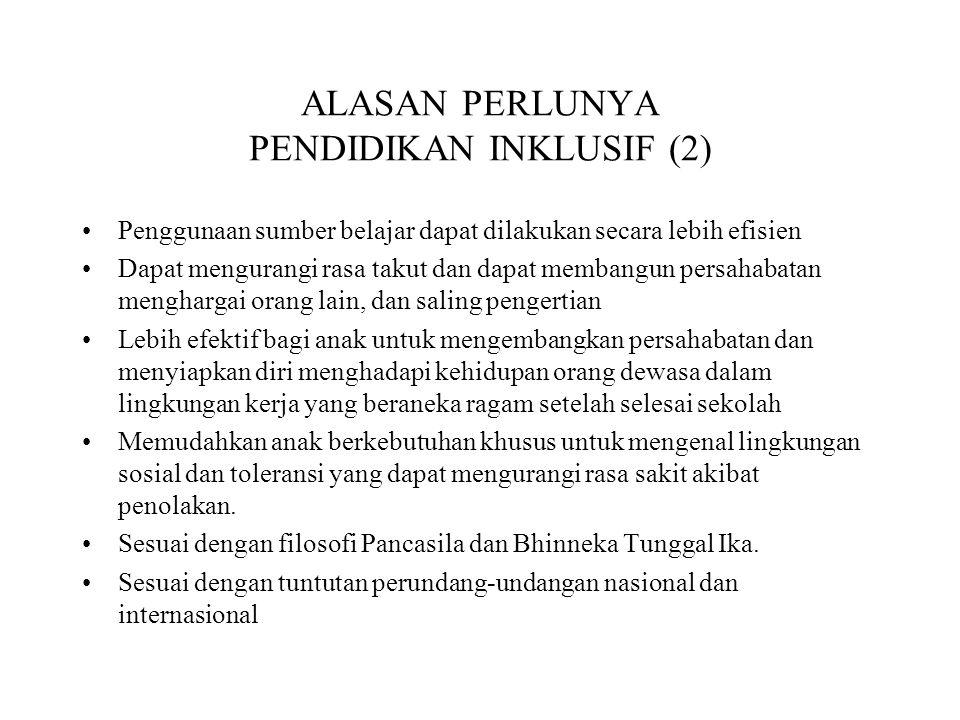 ALASAN PERLUNYA PENDIDIKAN INKLUSIF (2)