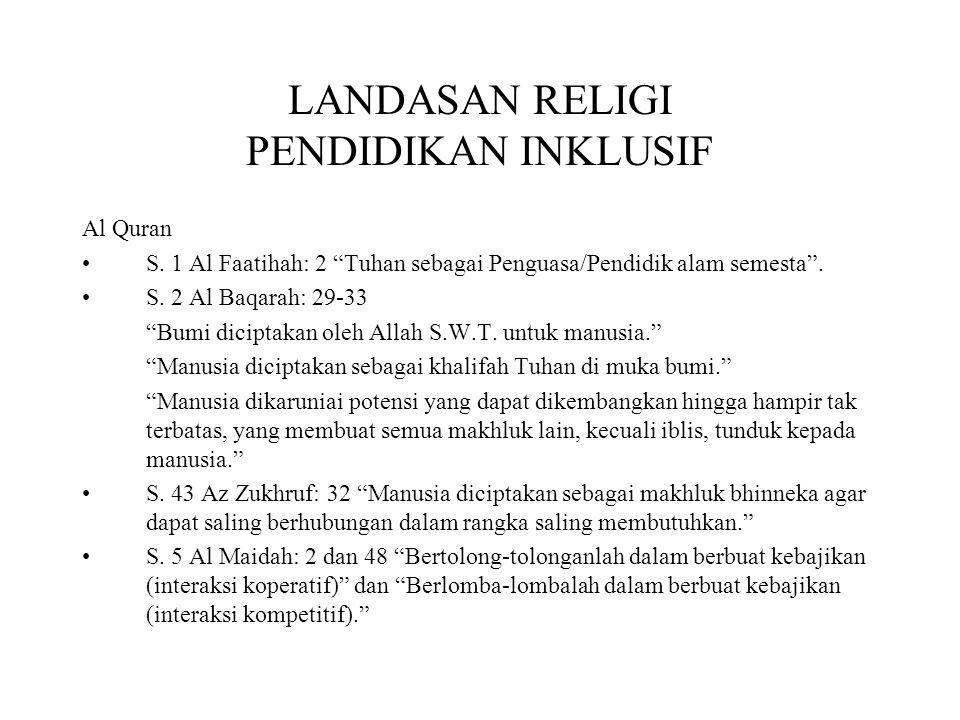LANDASAN RELIGI PENDIDIKAN INKLUSIF
