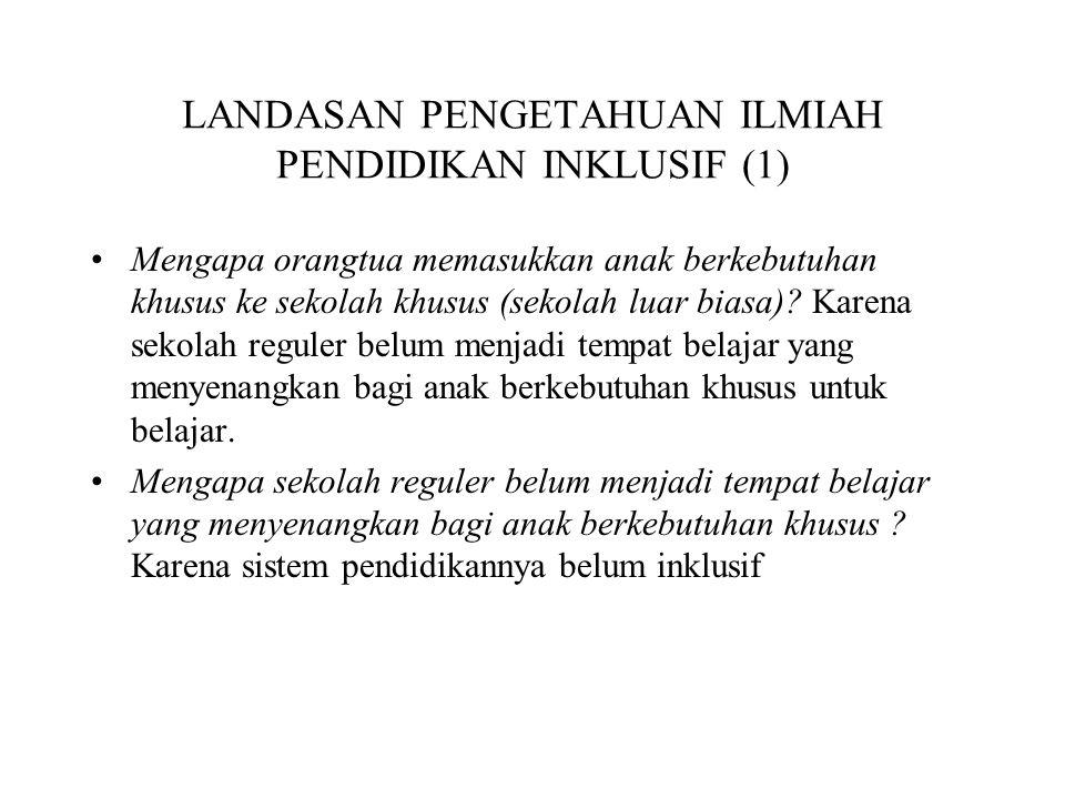 LANDASAN PENGETAHUAN ILMIAH PENDIDIKAN INKLUSIF (1)