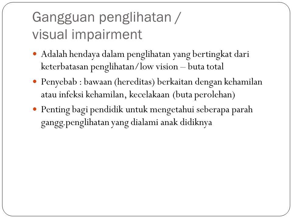 Gangguan penglihatan / visual impairment