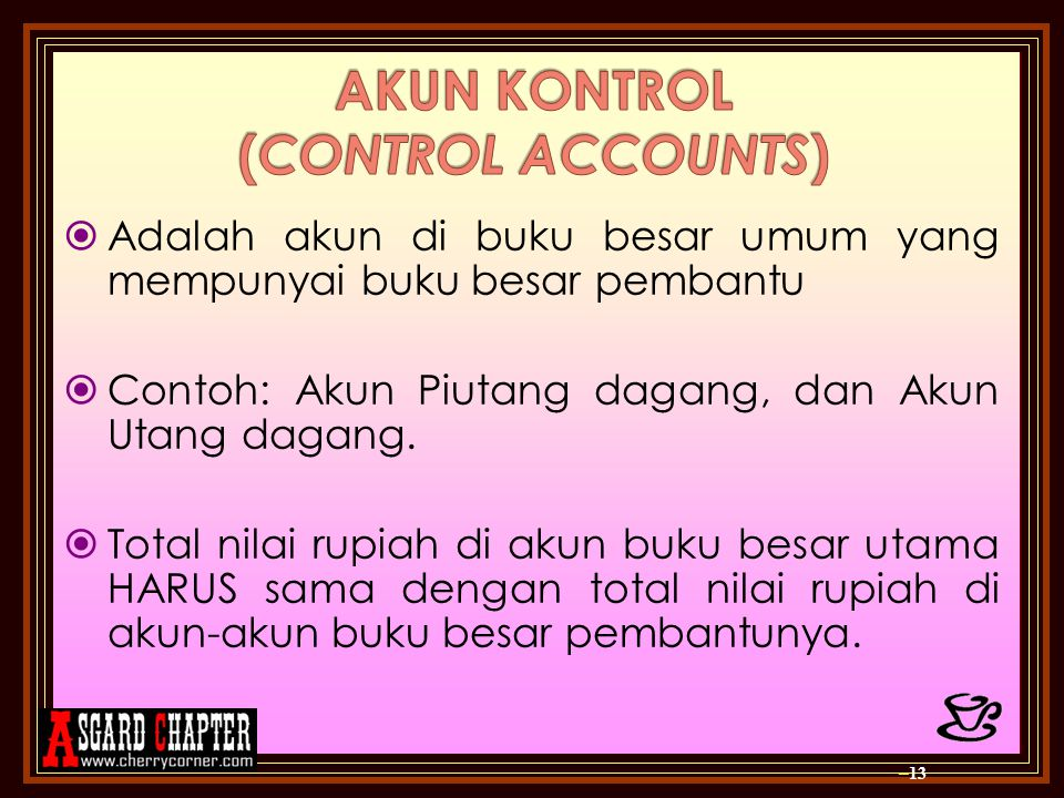AKUN KONTROL (CONTROL ACCOUNTS)
