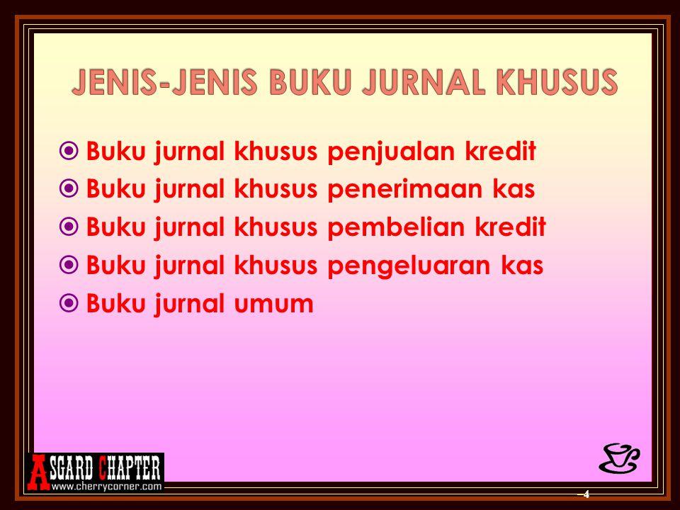 JENIS-JENIS BUKU JURNAL KHUSUS