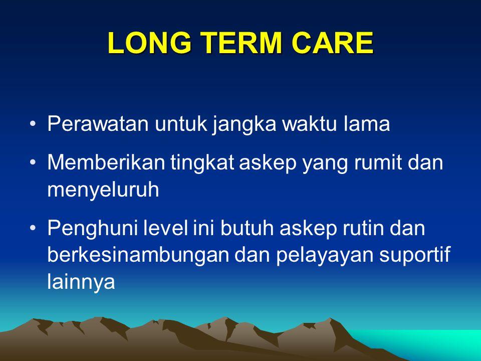 LONG TERM CARE Perawatan untuk jangka waktu lama