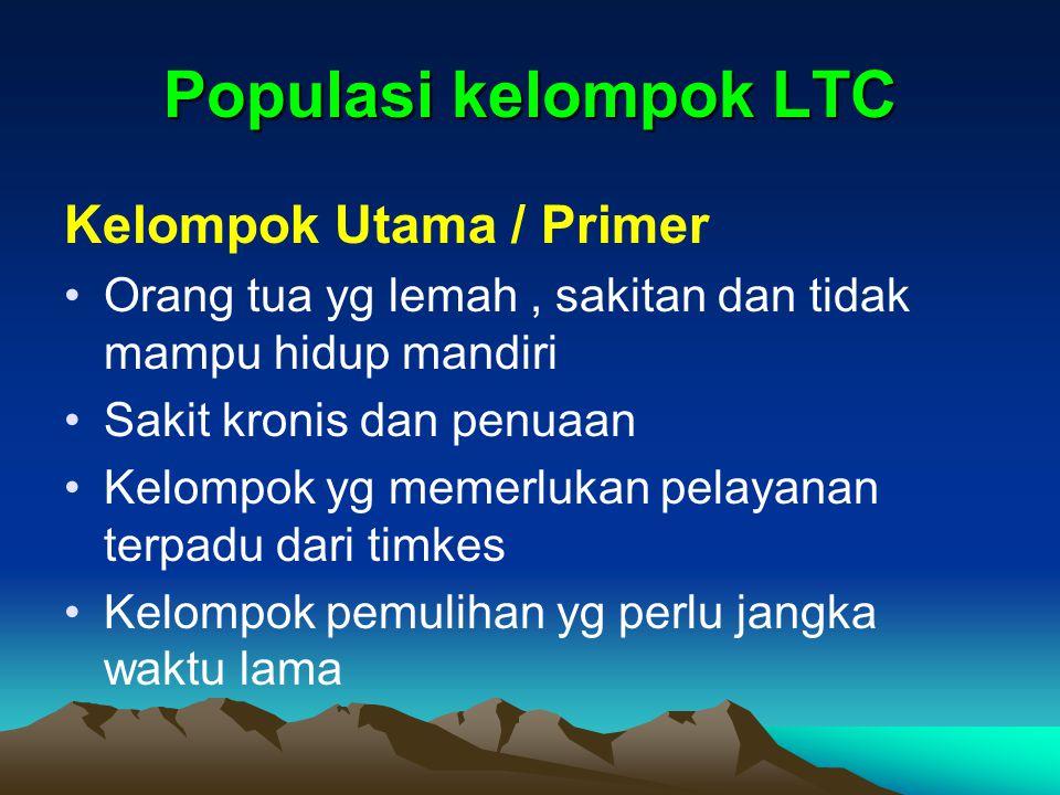 Populasi kelompok LTC Kelompok Utama / Primer