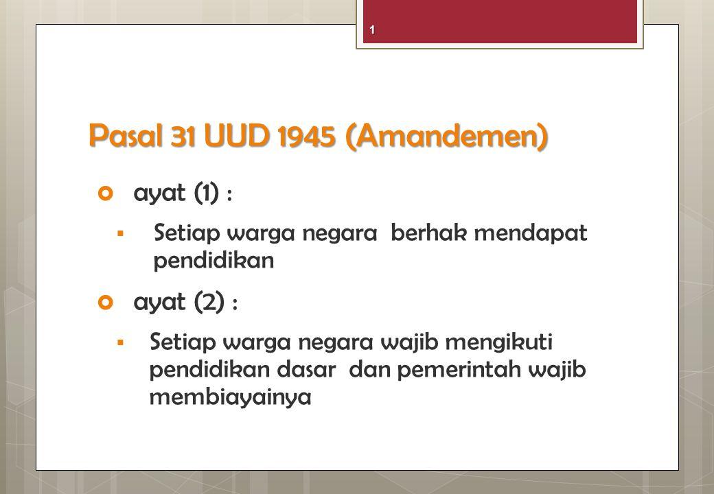 UU No. 20 Tahun 2003 tentang Sistem Pendidikan Nasional Pasal 5