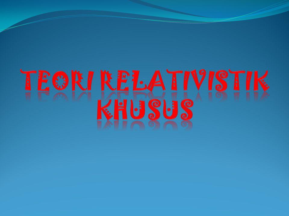Teori relativistik khusus