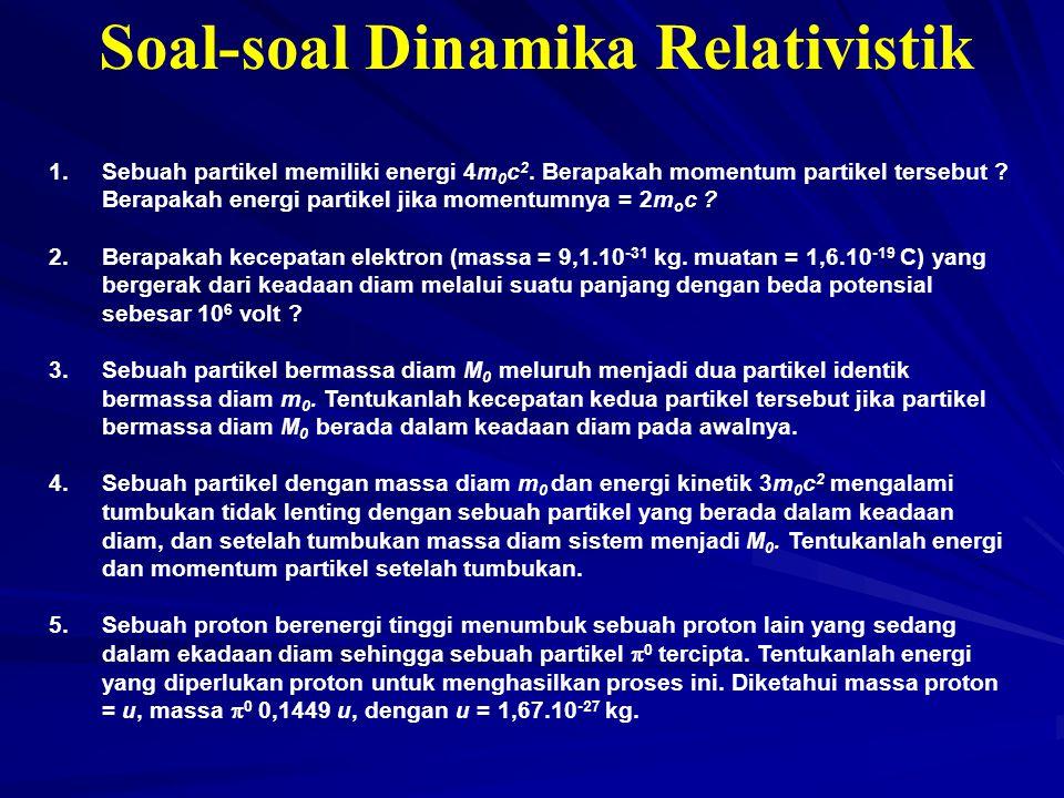 Soal-soal Dinamika Relativistik