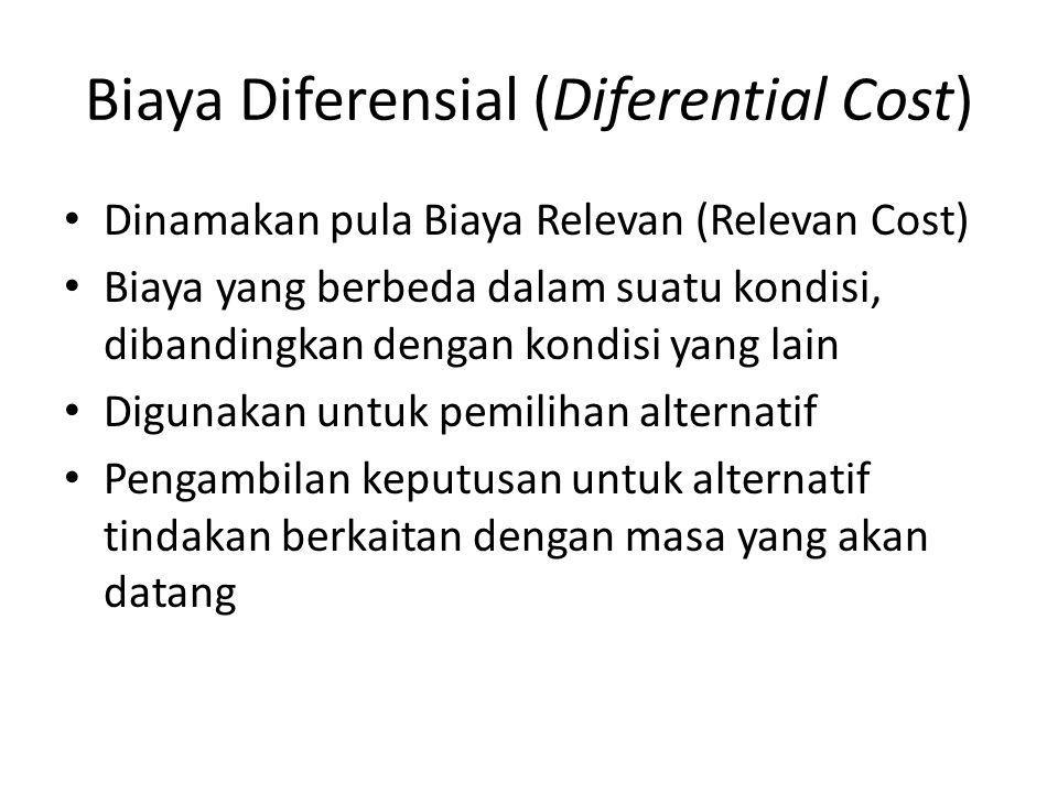 Biaya Diferensial (Diferential Cost)