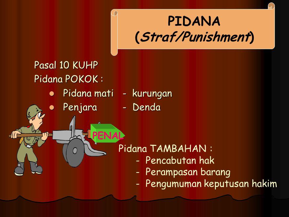 PIDANA (Straf/Punishment)