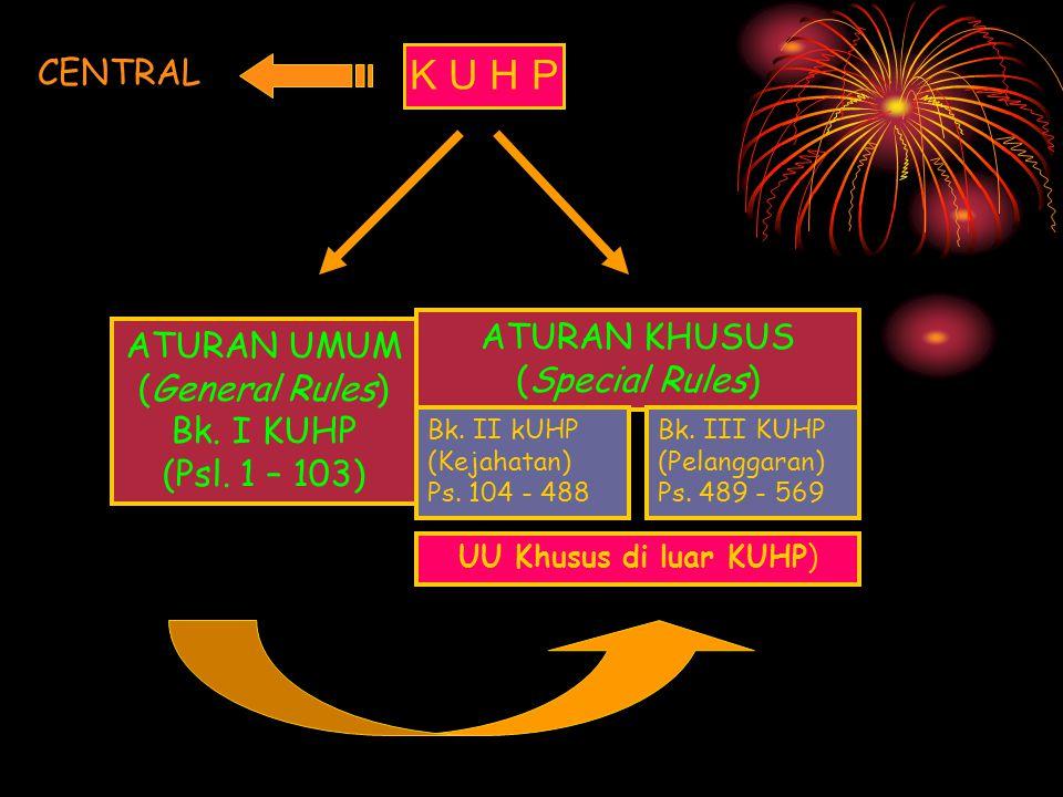 K U H P CENTRAL ATURAN KHUSUS ATURAN UMUM (Special Rules)