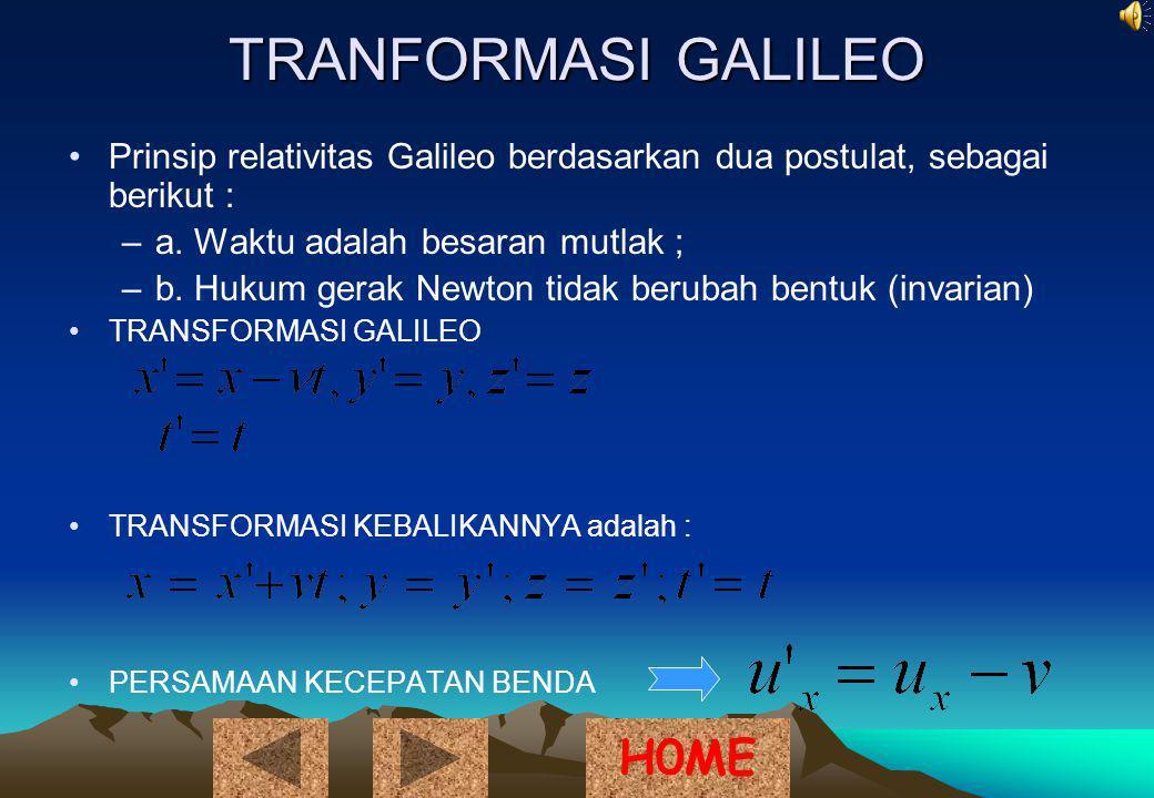 TRANFORMASI GALILEO H0ME