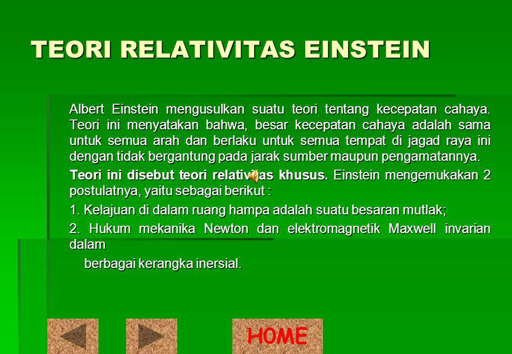TEORI RELATIVITAS EINSTEIN