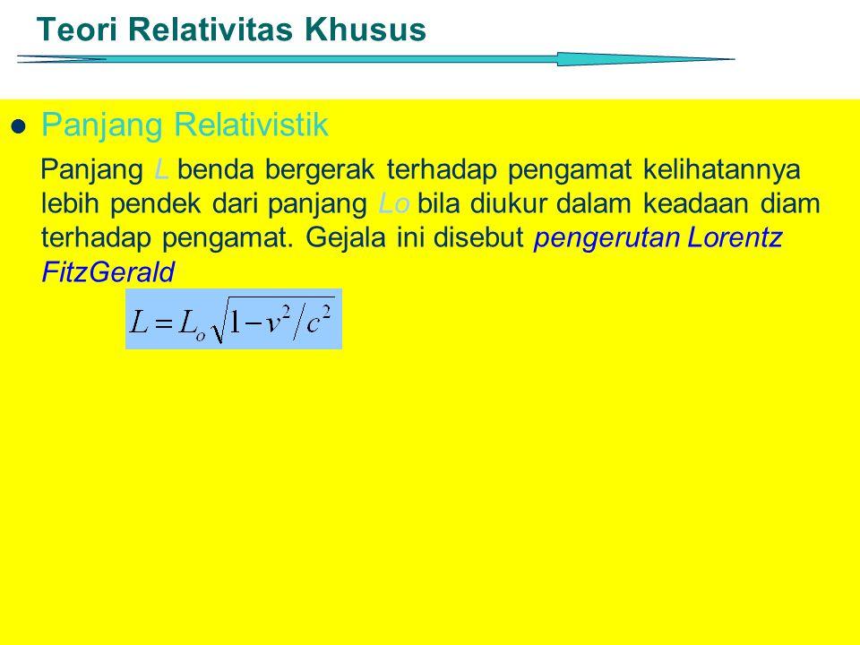 Teori Relativitas Khusus