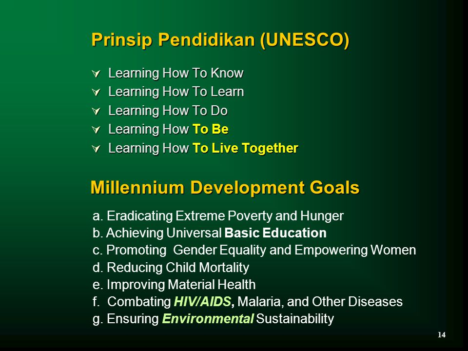 Prinsip Pendidikan (UNESCO)