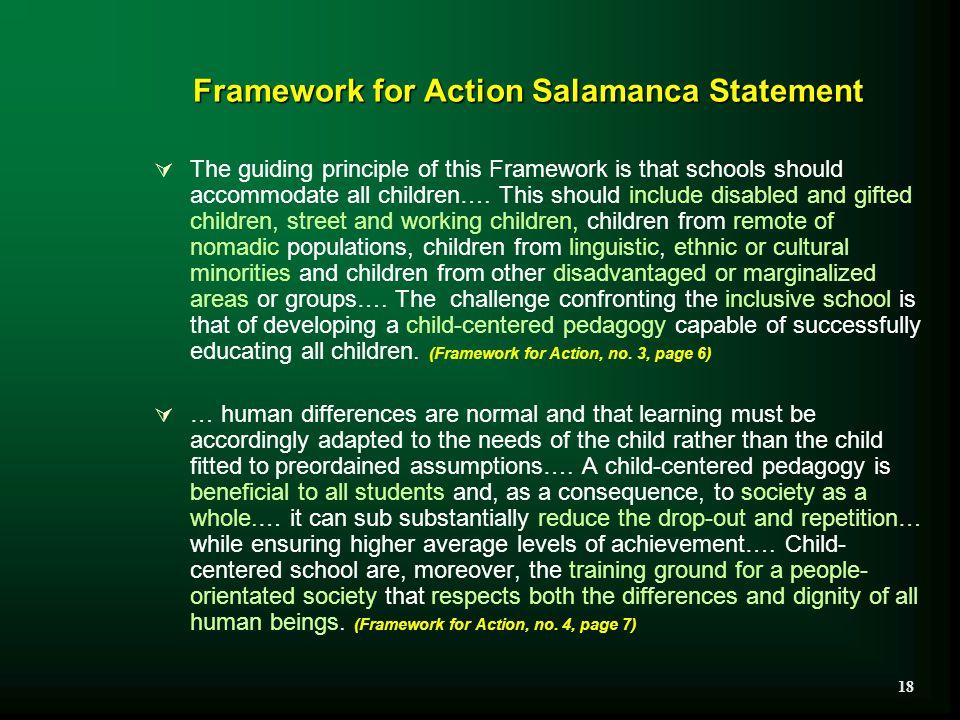 Framework for Action Salamanca Statement