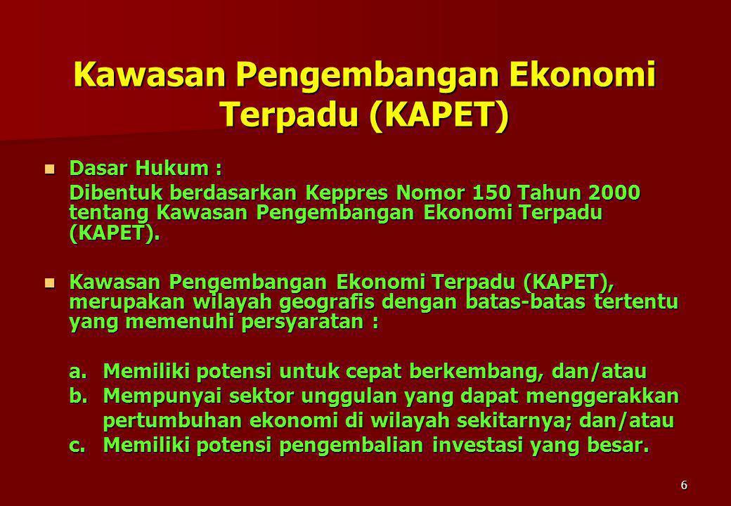 Kawasan Pengembangan Ekonomi Terpadu (KAPET)