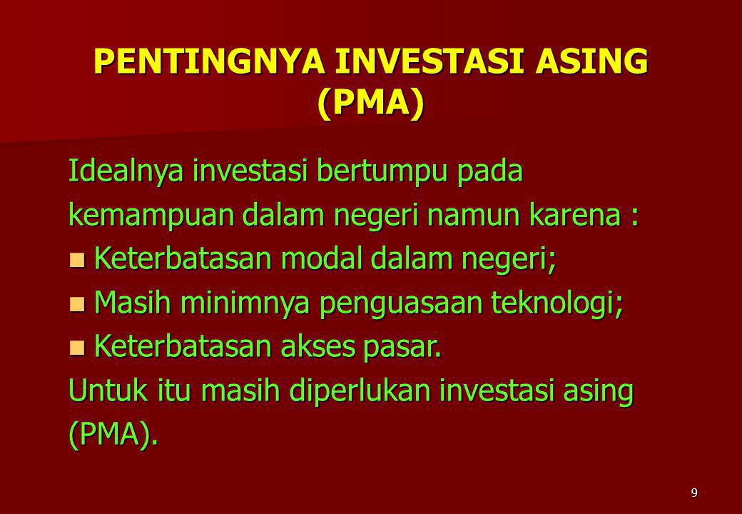 PENTINGNYA INVESTASI ASING (PMA)