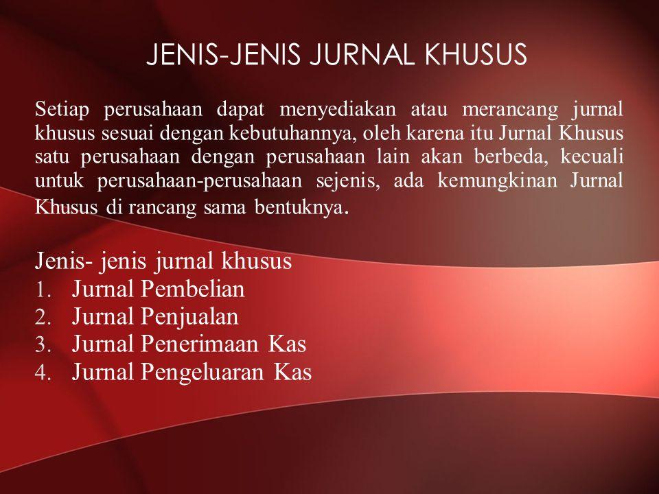 JENIS-JENIS JURNAL KHUSUS
