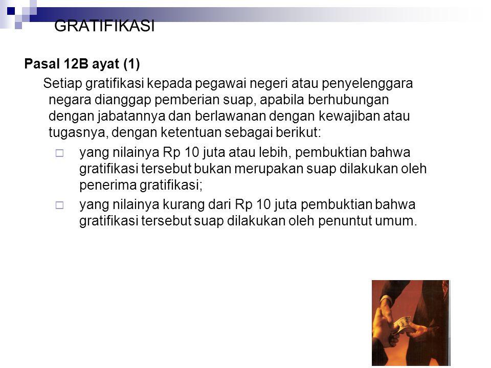 GRATIFIKASI Pasal 12B ayat (1)