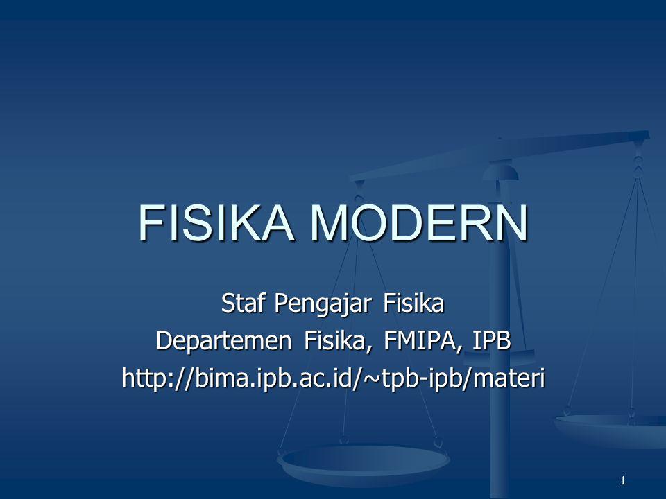Departemen Fisika, FMIPA, IPB