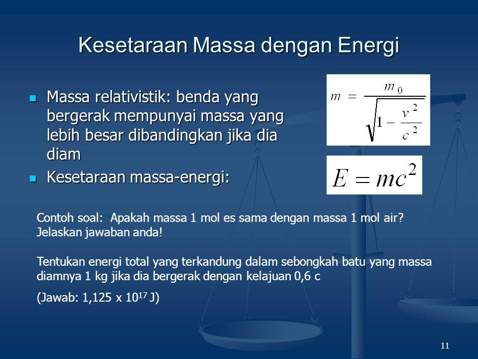 Kesetaraan Massa dengan Energi