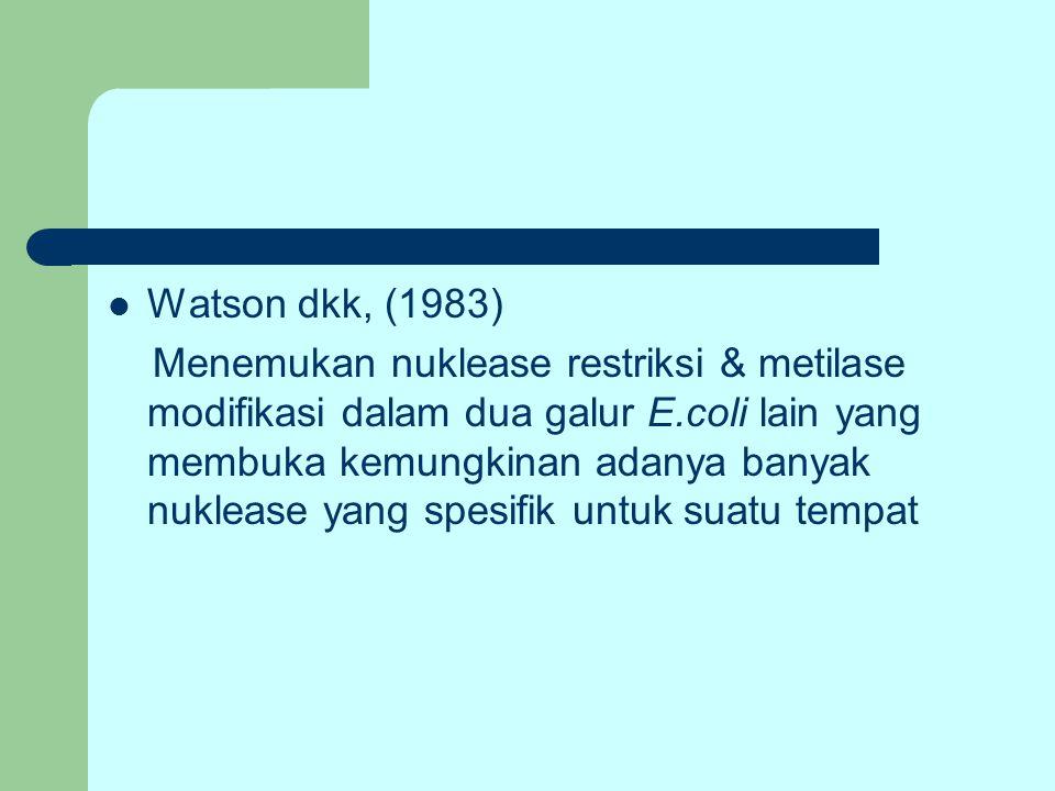 Watson dkk, (1983)