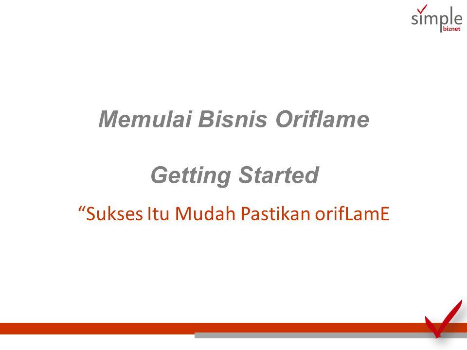 Memulai Bisnis Oriflame Getting Started