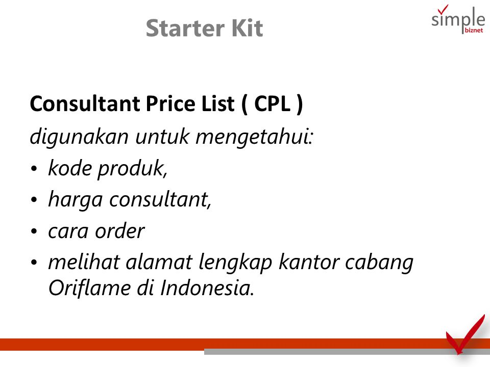 Consultant Price List ( CPL )