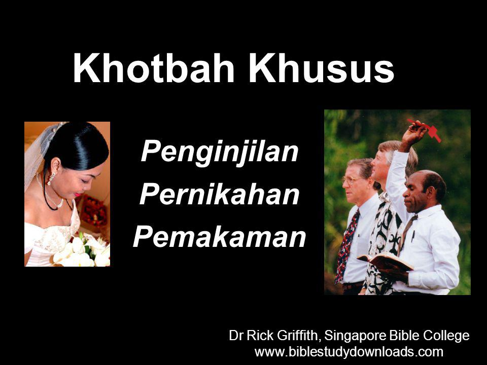 Dr Rick Griffith, Singapore Bible College
