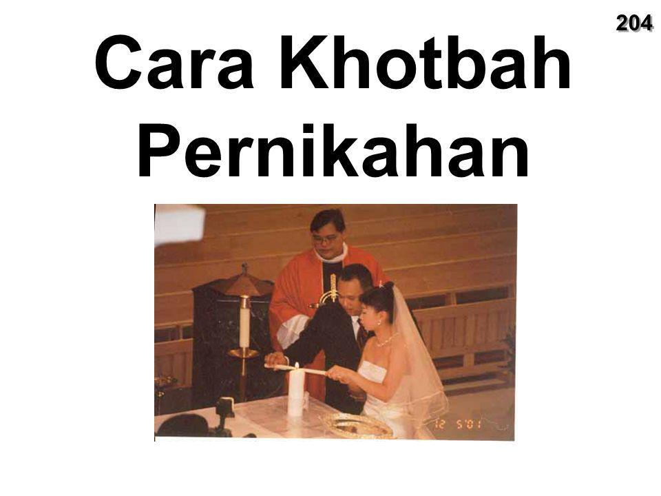 Cara Khotbah Pernikahan