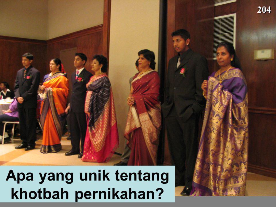 Apa yang unik tentang khotbah pernikahan