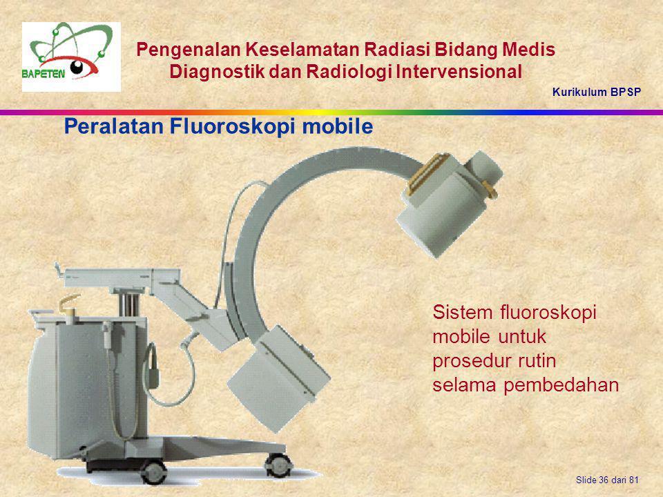 Peralatan Fluoroskopi mobile