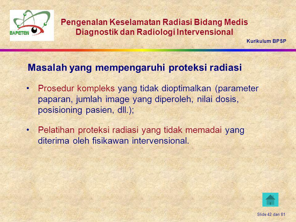 Masalah yang mempengaruhi proteksi radiasi