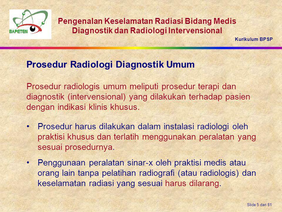Prosedur Radiologi Diagnostik Umum