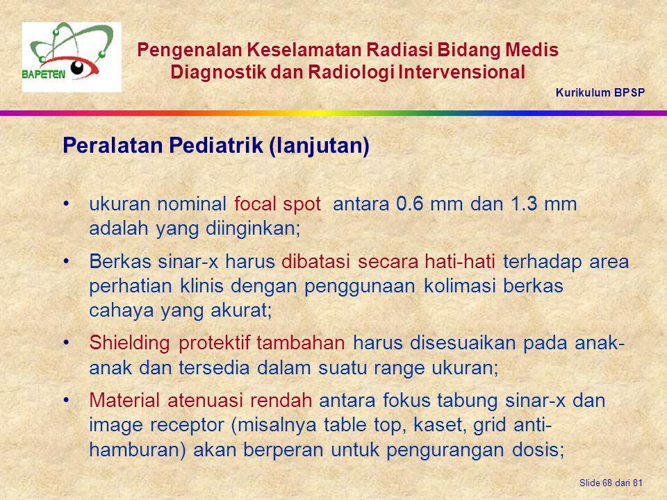 Peralatan Pediatrik (lanjutan)