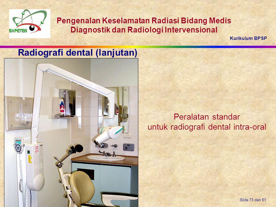 untuk radiografi dental intra-oral